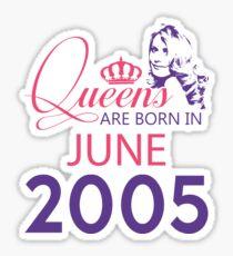 It's My Birthday 13. Made In June 2005. 2005 Gift Ideas. Sticker