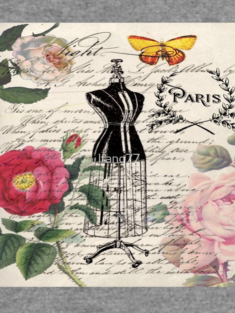 französisches Land Rose floral moderne Vintage Kleid Schaufensterpuppe Paris Mode von lfang77