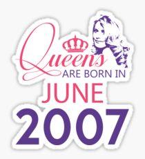 It's My Birthday 11. Made In June 2007. 2007 Gift Ideas. Sticker