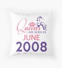 It's My Birthday 10. Made In June 2008. 2008 Gift Ideas. Throw Pillow