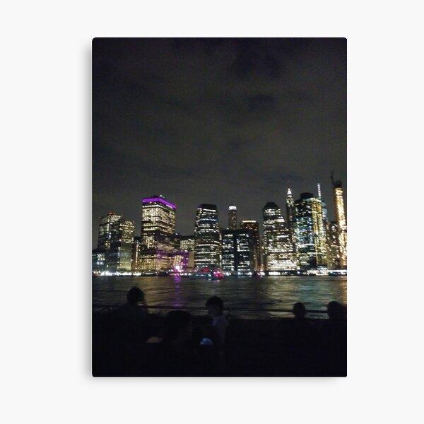 #Port, #crane, #ship, #industry, #sea, #cargo, #harbor, #dock, #shipping, #industrial, #night, #container, #water, #transportation, #transport, #cranes, #boat, #sky, #harbour, #nightlight, #reflection Canvas Print