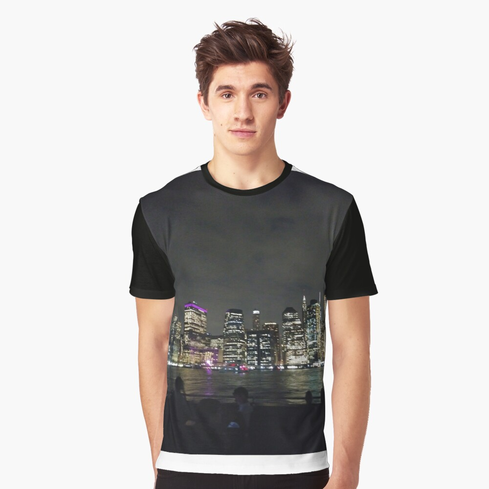#Port, #crane, #ship, #industry, #sea, #cargo, #harbor, #dock, #shipping, #industrial, #night, #container, #water, #transportation, #transport, #cranes, #boat, #sky, #harbour, #nightlight, #reflection Graphic T-Shirt Front