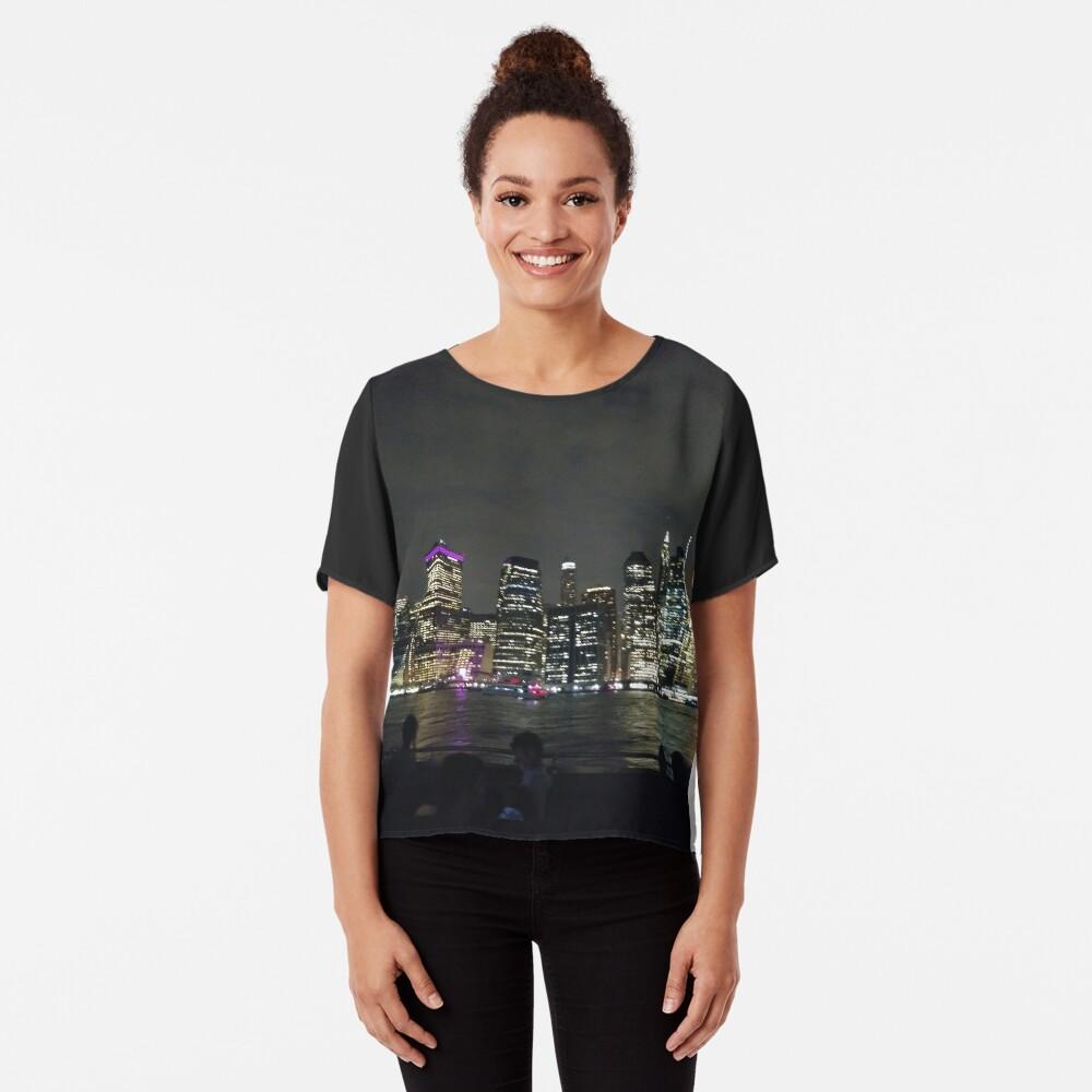 #Port, #crane, #ship, #industry, #sea, #cargo, #harbor, #dock, #shipping, #industrial, #night, #container, #water, #transportation, #transport, #cranes, #boat, #sky, #harbour, #nightlight, #reflection Chiffon Top
