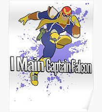 I Main Captain Falcon - Super Smash Bros. Poster