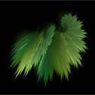 Green feather by FractaliaNo1