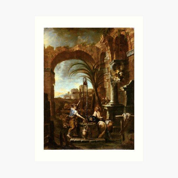 Alessandro Magnasco Christ and the Samaritan Woman Art Print