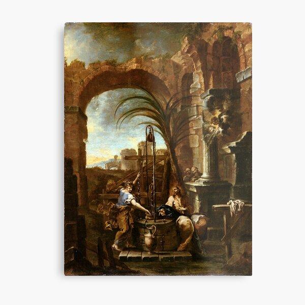 Alessandro Magnasco Christ and the Samaritan Woman Metal Print