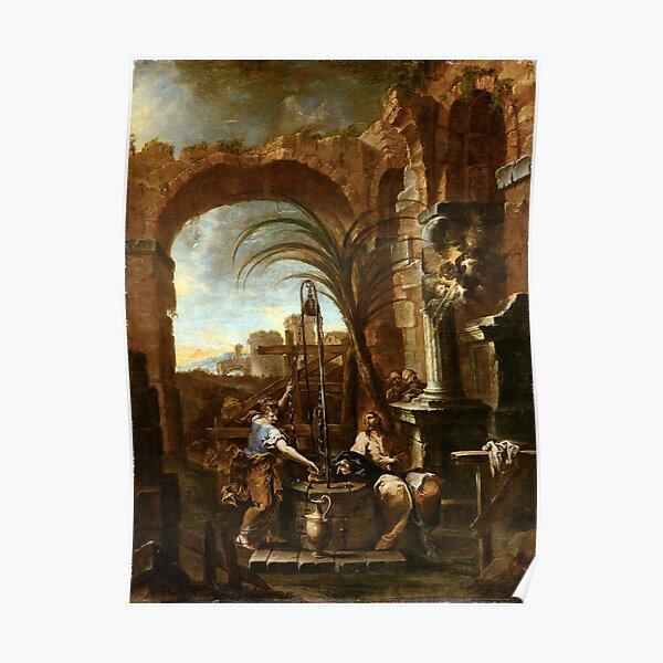 Alessandro Magnasco Christ and the Samaritan Woman Poster