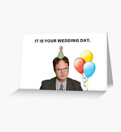 The Office Show, tarjeta del día de la boda, tarjetas de felicitación meme Tarjeta de felicitación