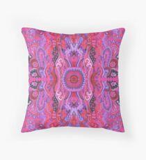 Inner garden boho style abstract floral cyclamen Floor Pillow
