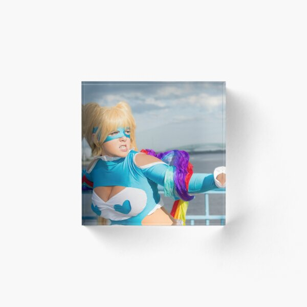 R Mika Rainbow Fight Acrylic Block
