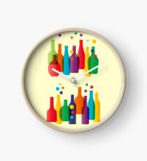 Colored bottles Clock