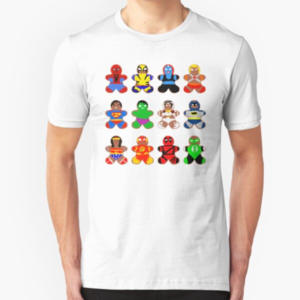 Superhero Gingerbread Man Slim Fit T-Shirt
