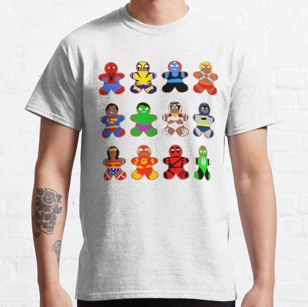 Superhero Gingerbread Man Classic T-Shirt