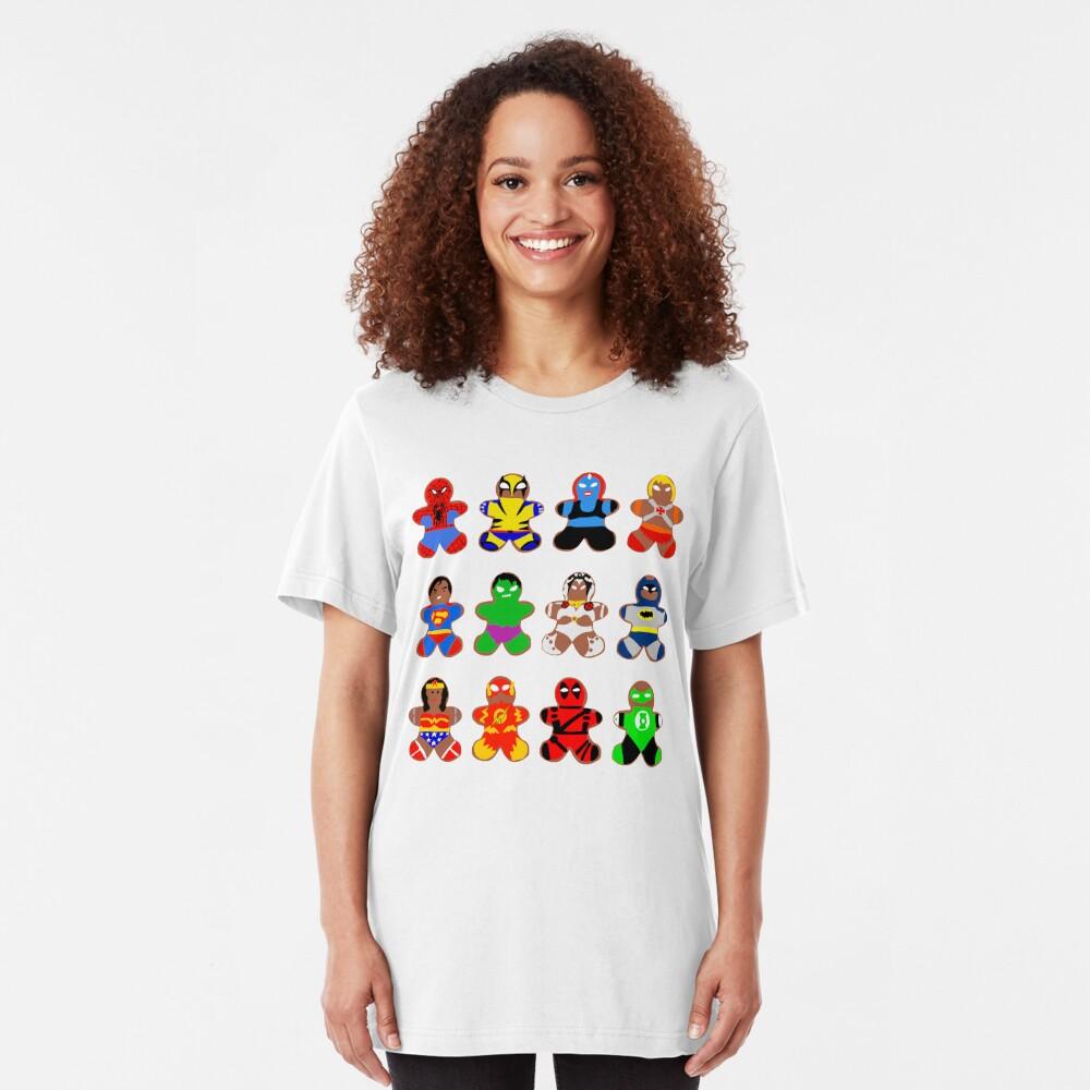 Superhero Gingerbread Man Slim Fit T-Shirt