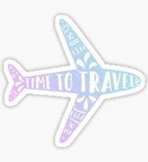 Time to travel. Gradient plane Sticker