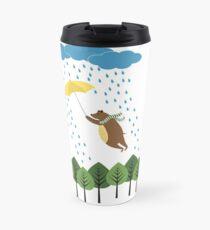 Bear in the rain Travel Mug
