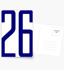 Hohe blaue Nummer 26 Postkarten