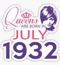 It's My Birthday 86. Made In July 1932. 1932 Gift Ideas. Sticker