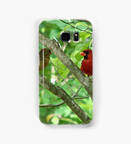 Northern Cardinal Pair - female and male Samsung Galaxy Case/Skin