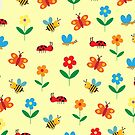 Colorful world of insects by grafart