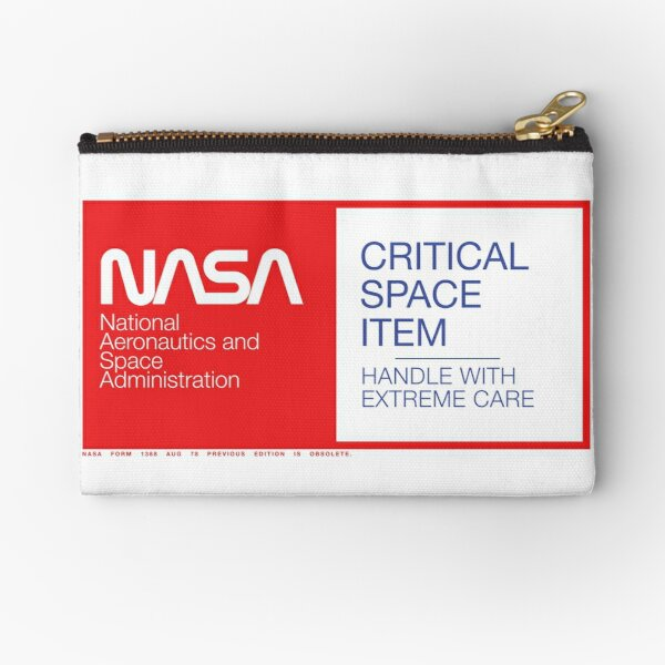 NASA Critical Space Item Zipper Pouch