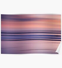 Sunset on an Abstract Beach Poster