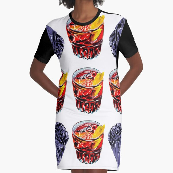 In Negroni we trust Graphic T-Shirt Dress