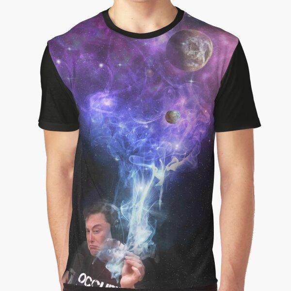 Elon Musk Smokes The Universe Graphic T-Shirt