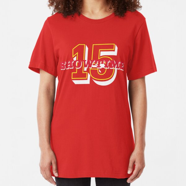 Mahomes Means SHOWTIME in KC Slim Fit T-Shirt