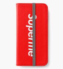 Superme iPhone Flip-Case/Hülle/Klebefolie