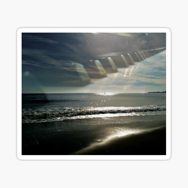 Piano Keys on the Beach by Jerald Simon (Music Motivation - musicmotivation.com) Sticker