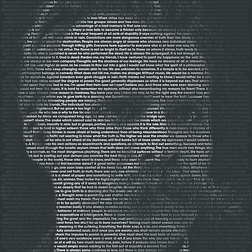 Nietzsche Quote Portrait by qqqueiru