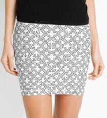 Geometric Pattern - Oriental Star Design  Mini Skirt