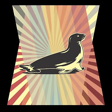Seal Seerobbe Seal Retro Gift by KingCreative
