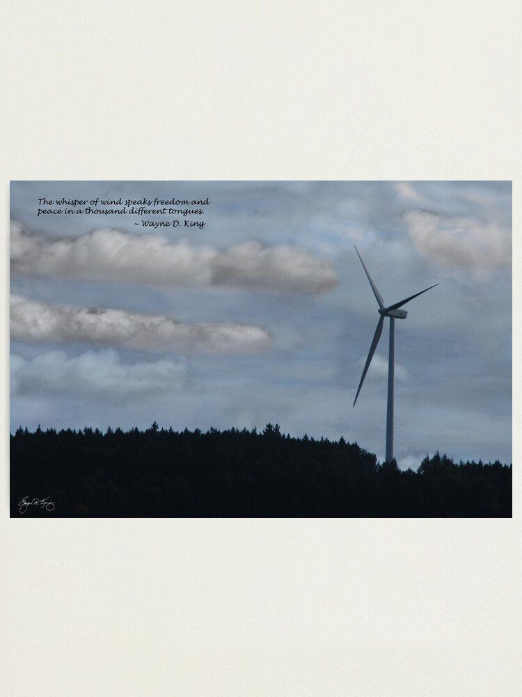 Alternate view of The Whisper of Wind Speaks Freedom Photographic Print