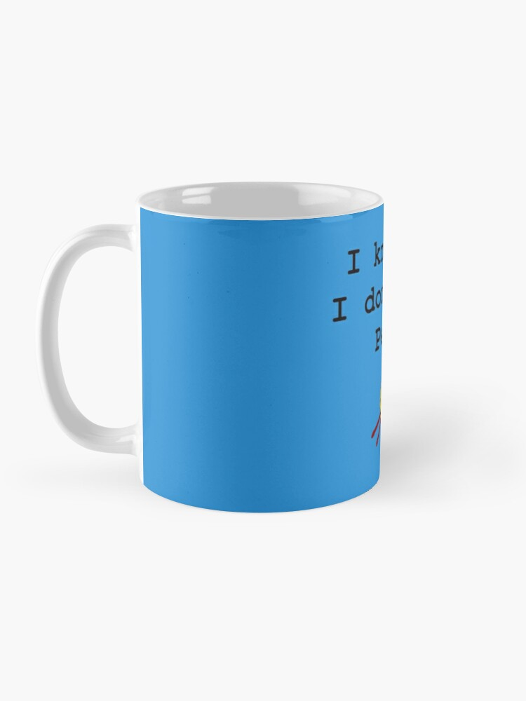 Alternate view of I knit so I don't kill people Mug