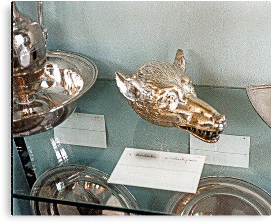 Silver-plate  Laarne Castle - Belgium - Wolf beaker by Gilberte