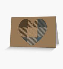 Outlander Fraser Clan Tartan Heart Card Greeting Card Greeting Card
