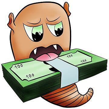 Alien worm eat money by Melcu