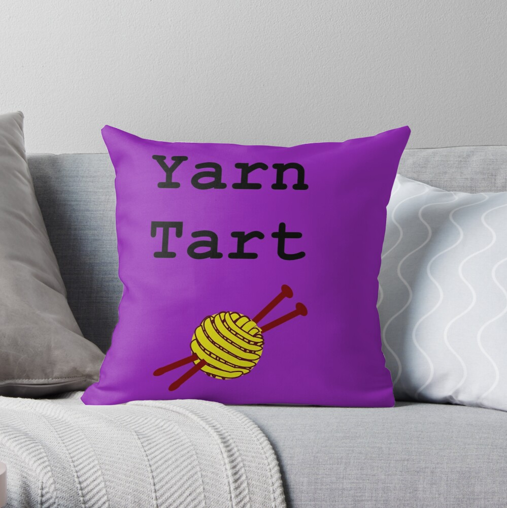Yarn Tart Throw Pillow
