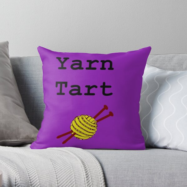 Yarn Tart Throw Pillow