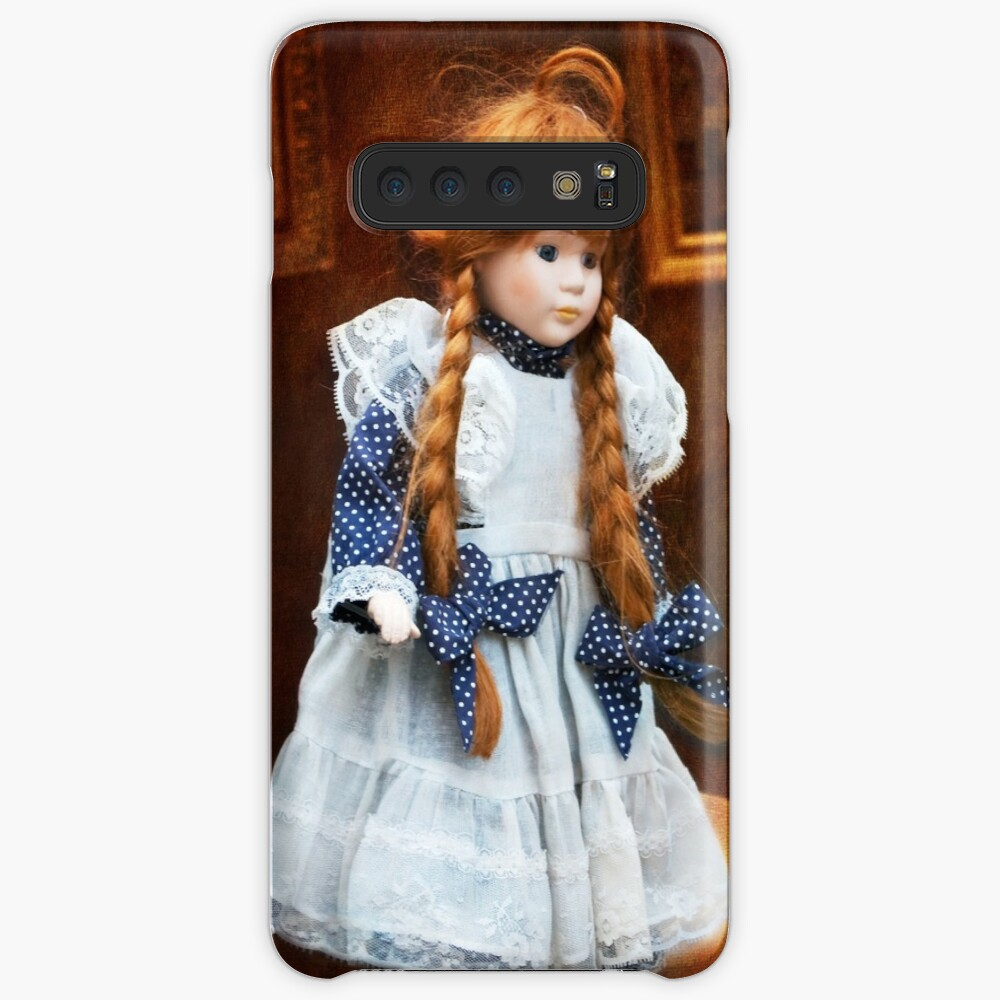 Red haired porcelain doll Case & Skin for Samsung Galaxy