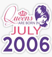 It's My Birthday 12. Made In July 2006. 2006 Gift Ideas. Sticker
