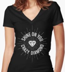 Shine On You Crazy Diamond Women's Fitted V-Neck T-Shirt