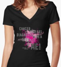 Diagnosed with ME Women's Fitted V-Neck T-Shirt
