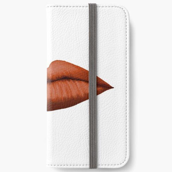 Lips (orange) iPhone Wallet
