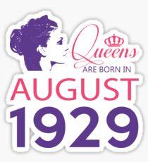 It's My Birthday 89. Made In August 1929. 1929 Gift Ideas. Sticker