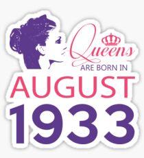 It's My Birthday 85. Made In August 1933. 1933 Gift Ideas. Sticker