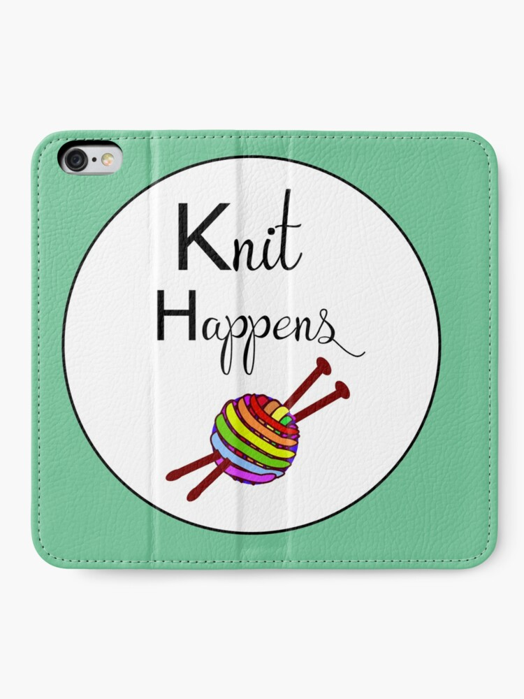 Alternate view of Knit happens iPhone Wallet